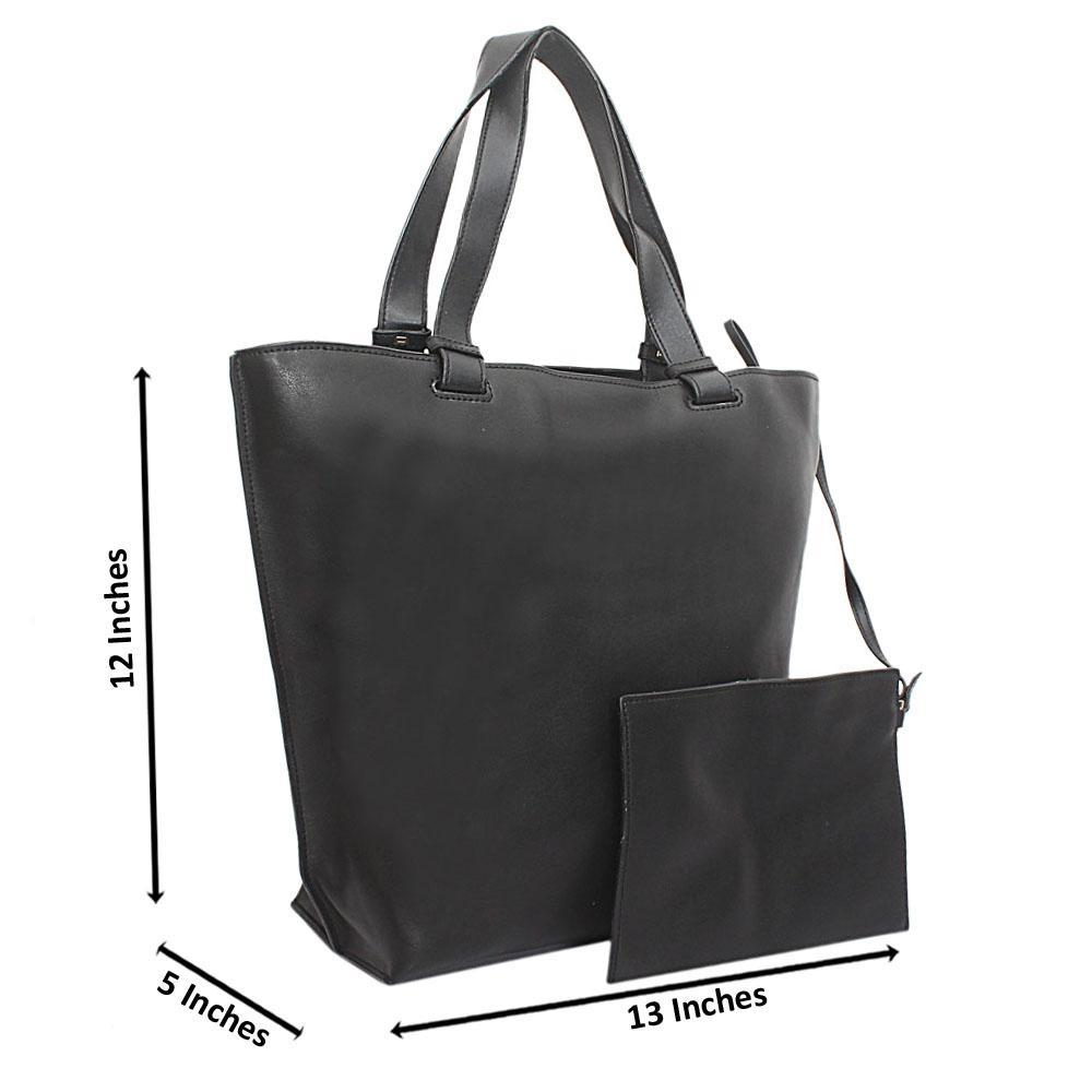 Black Florence Calfksin Leather Shoulder Handbag