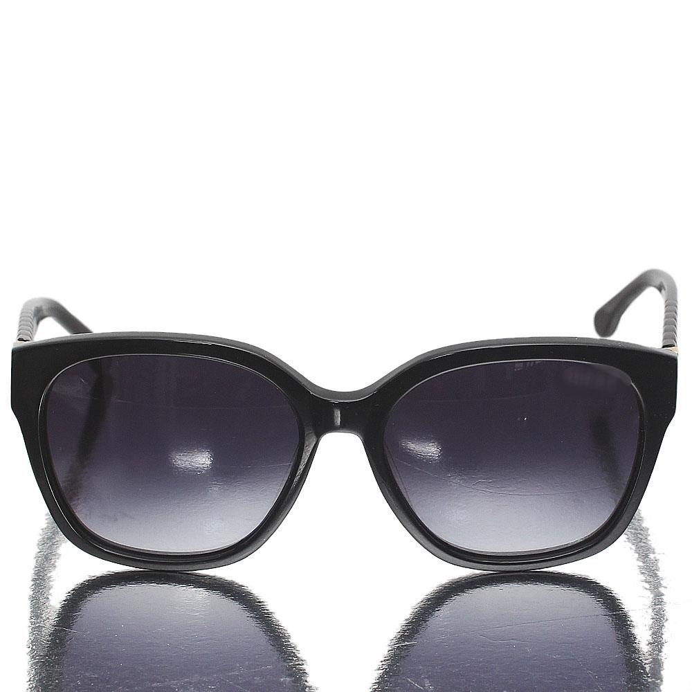 Black Oblong Dark Lens Sunglasses