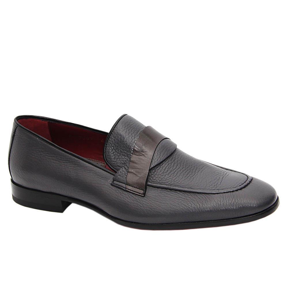Gray Vittorio Italian Soft Leather Loafers