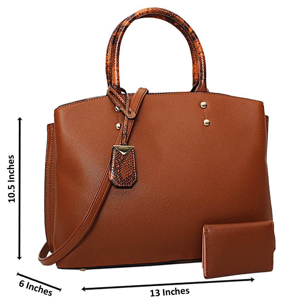 Brown Courtney Leather Medium Tote Handbag