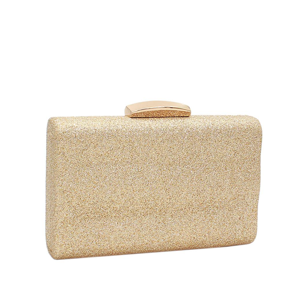 Gold Ice Shimmering Clutch Purse