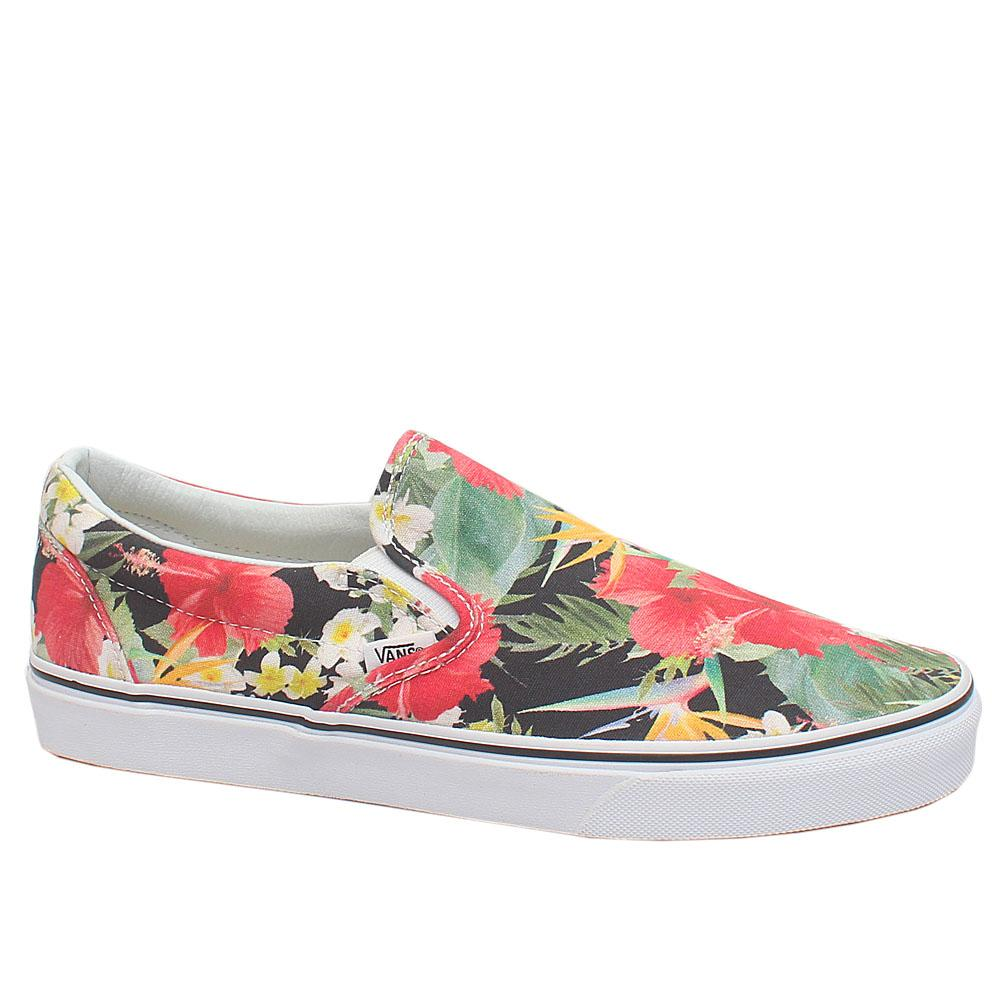 Floral Fabric Slip On Loafers