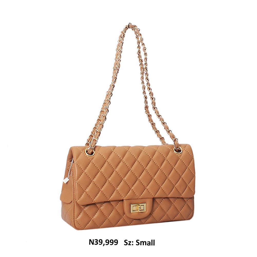 Light Brown Kiera Leather Small Shoulder Handbag