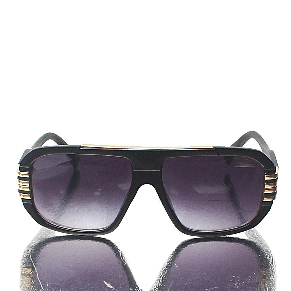 Black Aviator Dark Lens Sunglasses