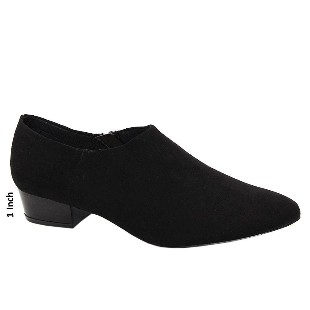 Black Maya Suede Leather Low Heel Women Boot