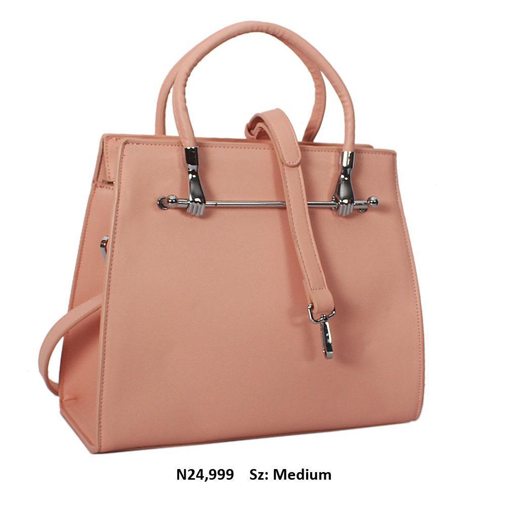 Barbie Pink Norri Leather Tote Handbag Wt Minor Scratch