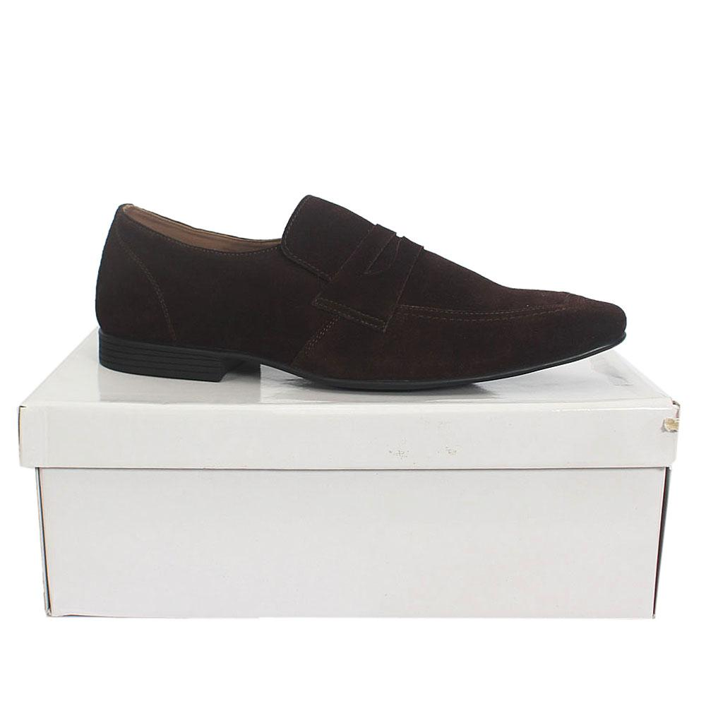 Kurt Geiger Kingsley Brown Suede Leather Men Shoe