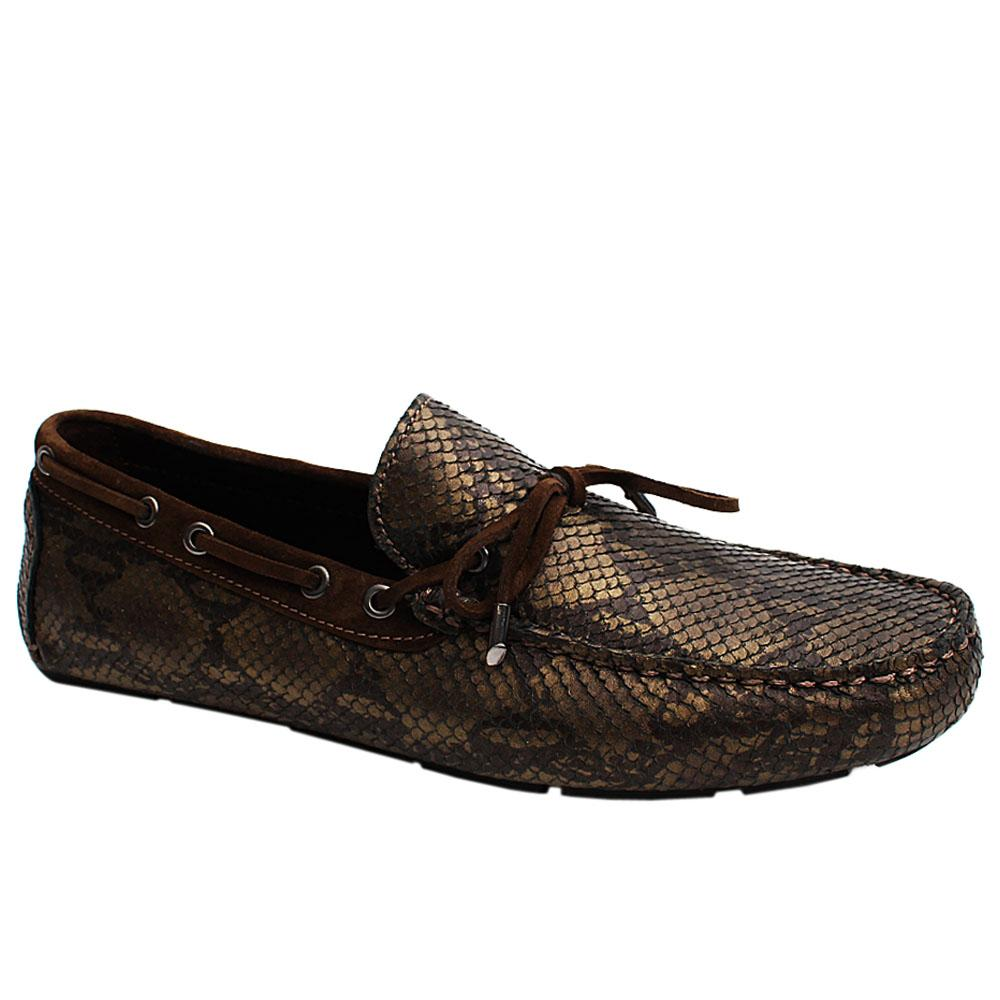 Brown-Testa-Snake-Styled-Italian-Leather-Men-Drivers-Shoe