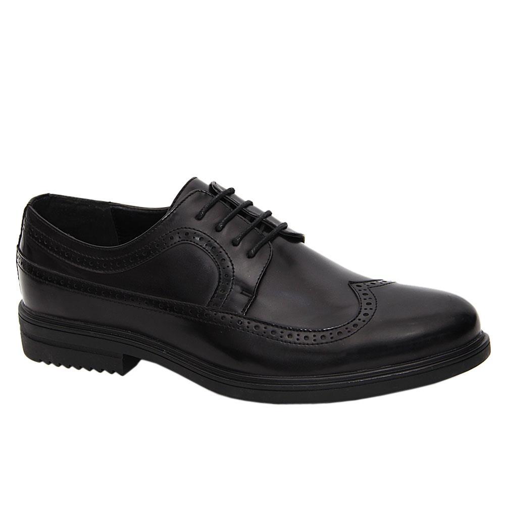 Black Richard Patent Leather Men Derby Shoes