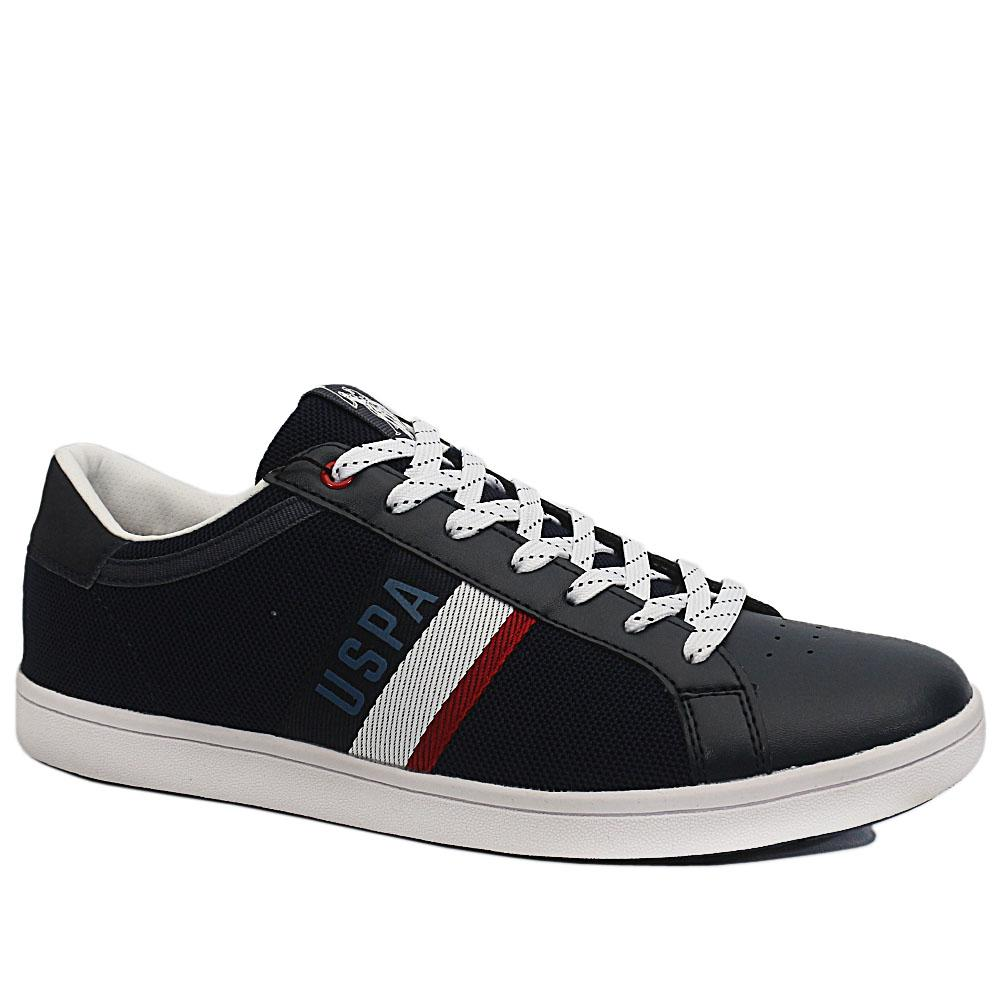 Sz 45 USSPA Navy Icon Leather Breathable Sneakers