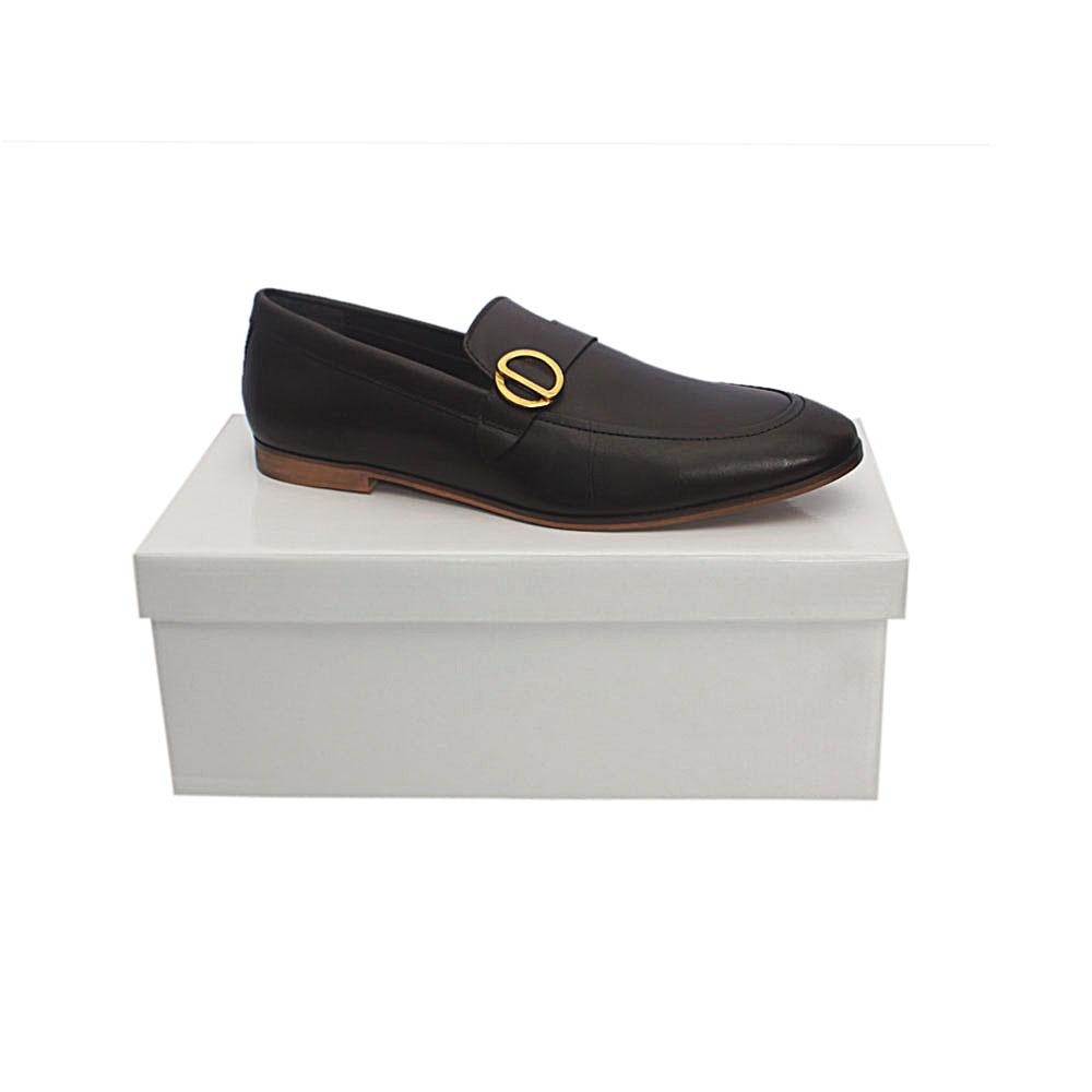 Kurt Geiger Rushden Coffee Premium Leather Shoe Sz 46