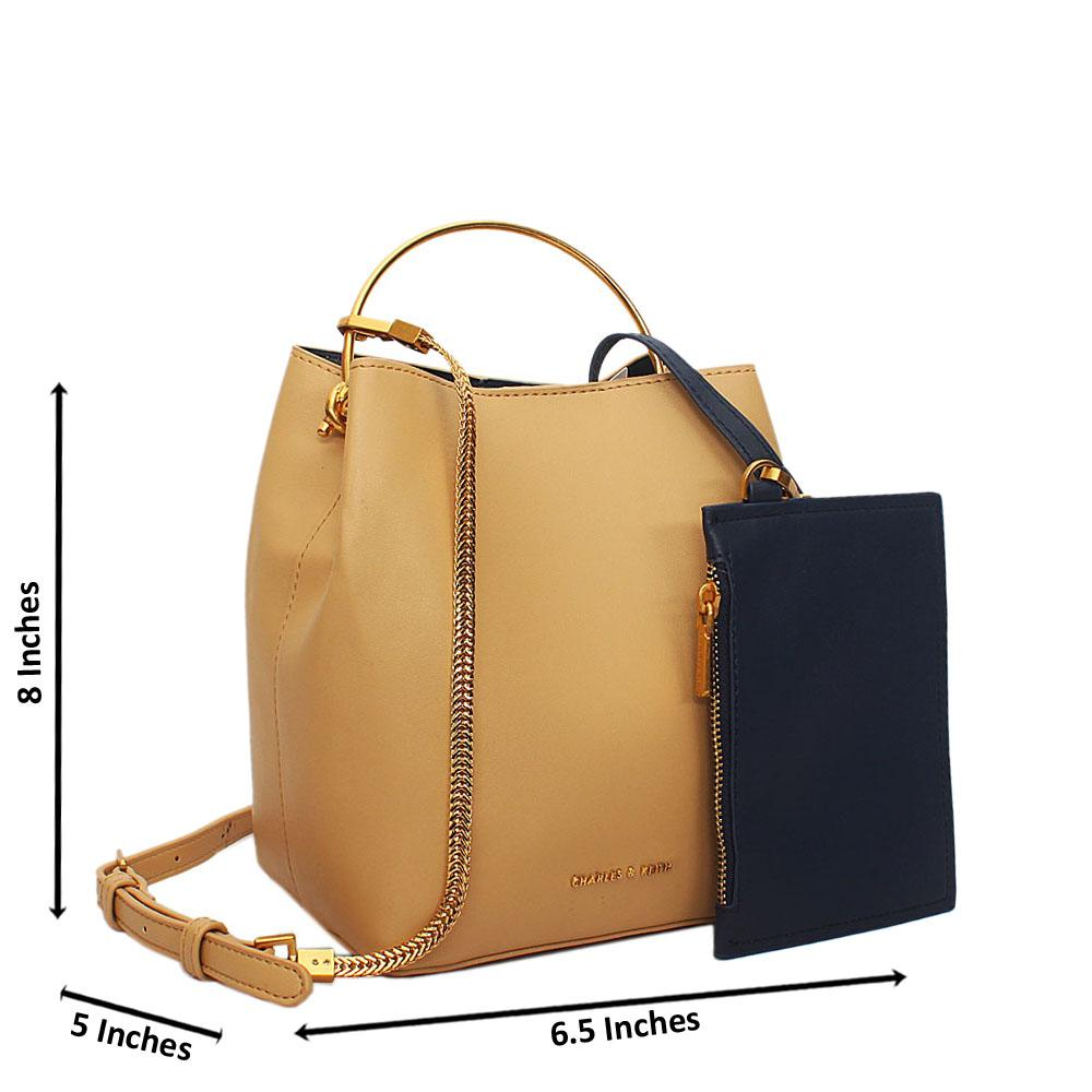 Cream Sofia Leather Mini Top Handle Handbag