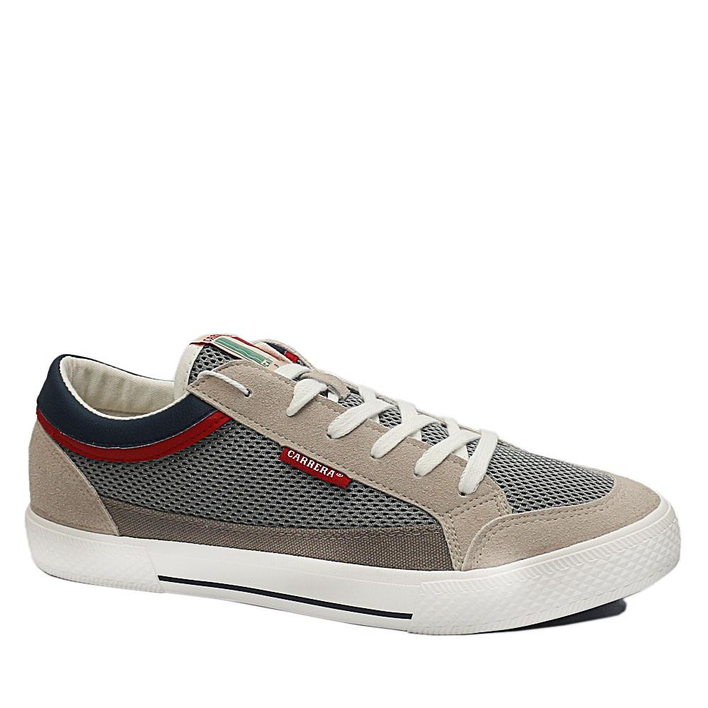 Sz 44 Carrera Gray Mix Fabric Suede Leather Breathable Sneakers