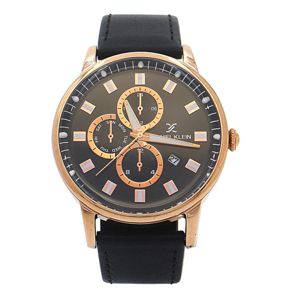 Black Gold Steel Leather Pilot SeriesWatch