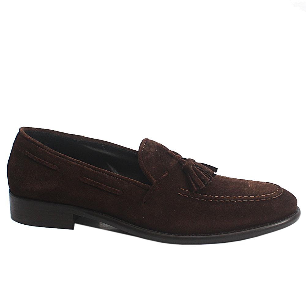 Coffee Anemaecore Italia Suede Leather Loafers