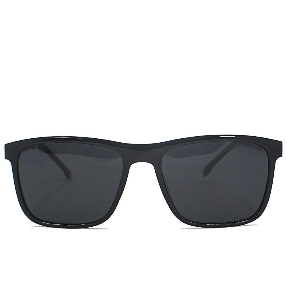 Black Straight Face Wayfarer Sunglasses