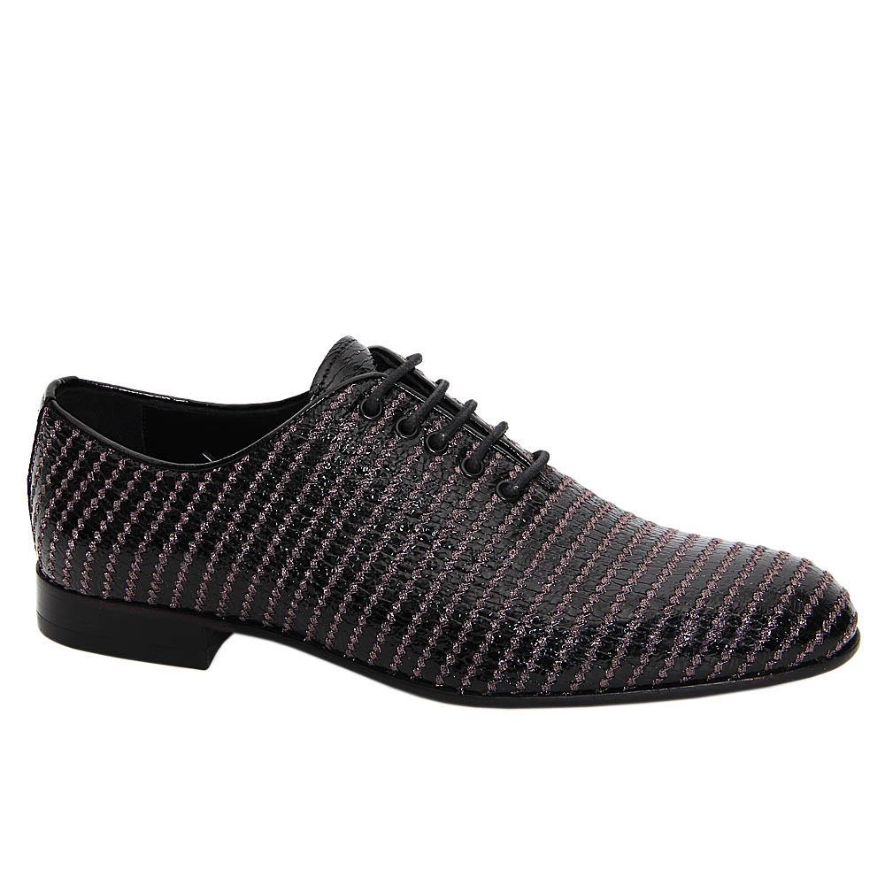 Black Pablo Esteban Patent Italian Leather Oxford Shoe