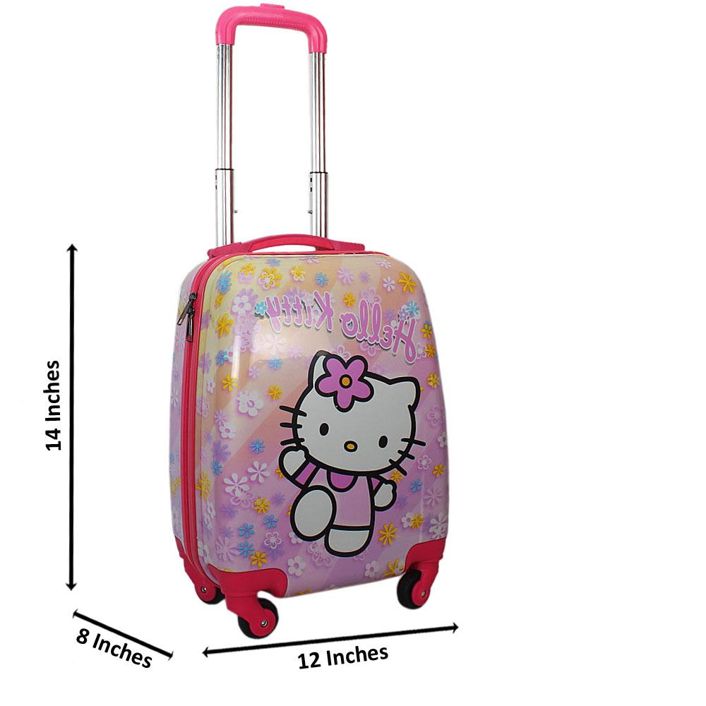 Pink Kitty Graphic14 Inch ABShell KiddiesCarry On Luggage