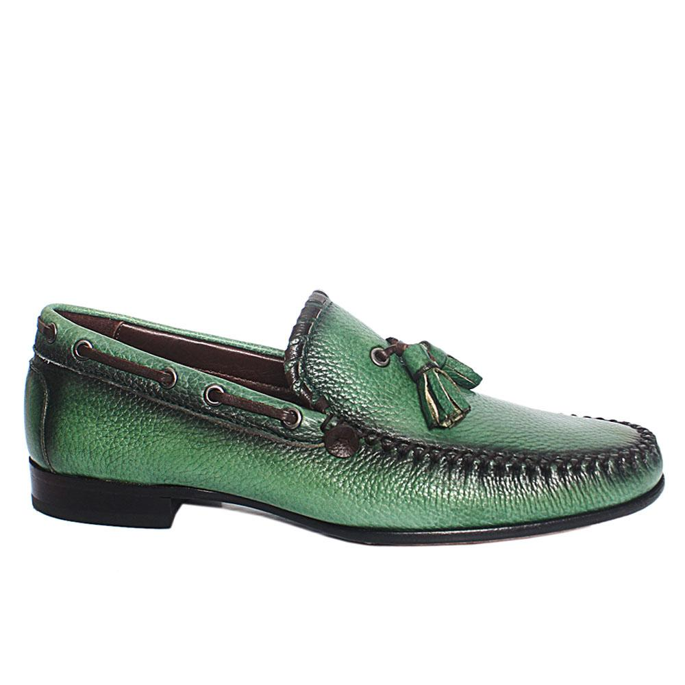 Green Rico Italian Leather Loafers