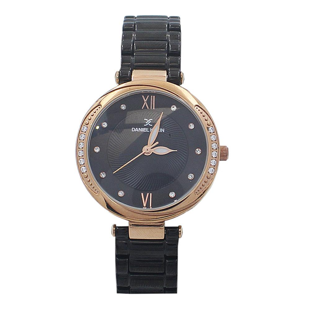 Classic Black Studded Stainless Steel Ladies Watch