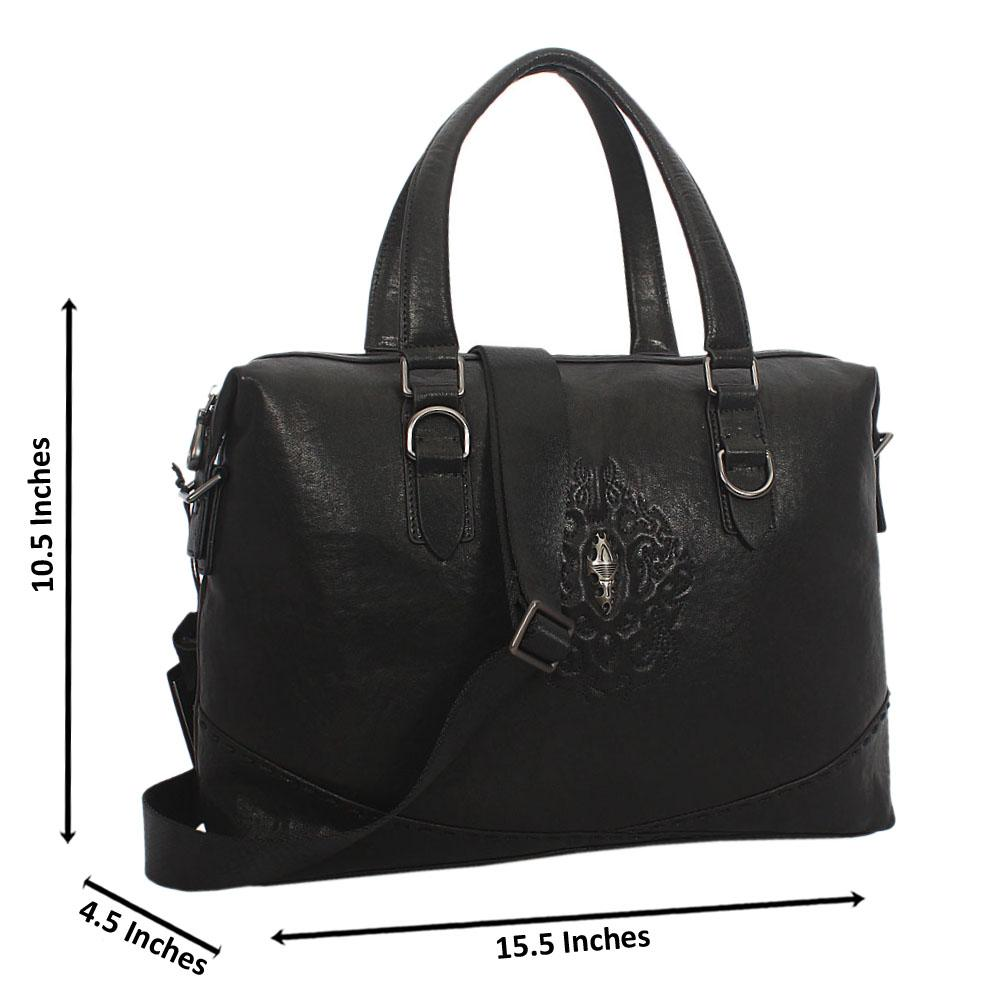 Black Classic Leather BusinesBag