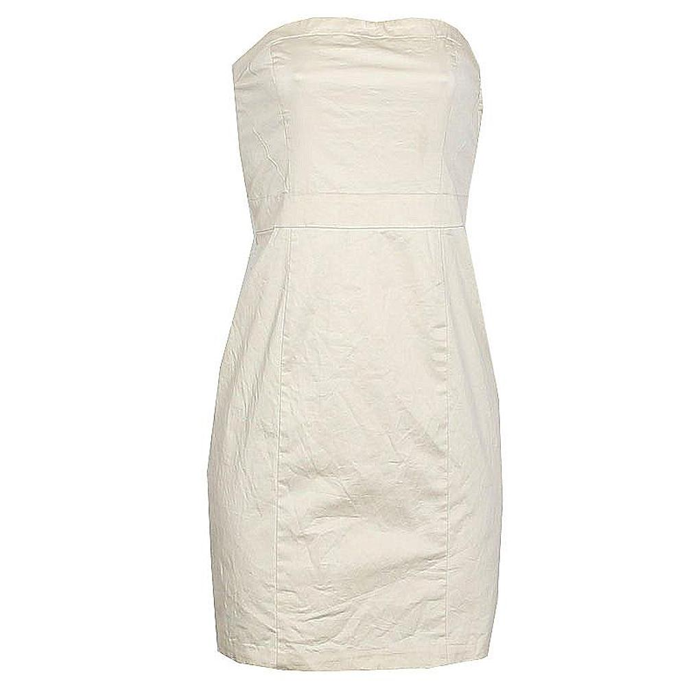 H  &  M Cream Tube Dress - UK 10