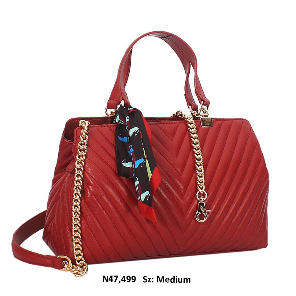 Chilli Red Isla Leather Tote Handbag