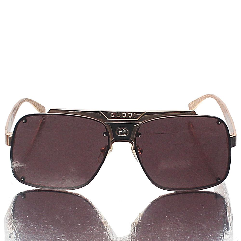 Gold Pilot Coffee Lens Sunglasses