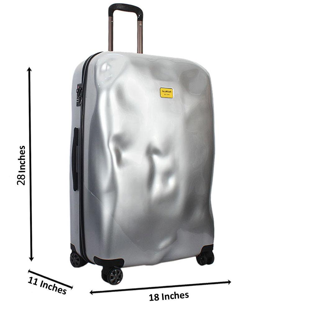 Silver 28 Inch Hardshell Large Check-In Luggage Wt TSA Lock