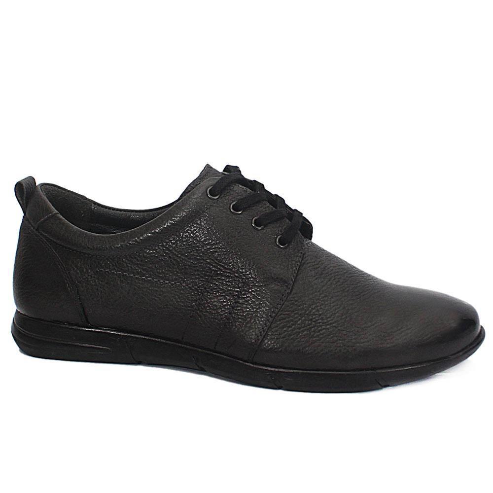 Dark Gray Leather Sneakers