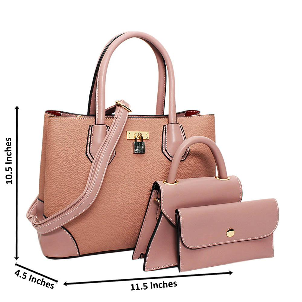 Pink-Natalie-Leather-Medium-3-in-1-Tote-Handbag