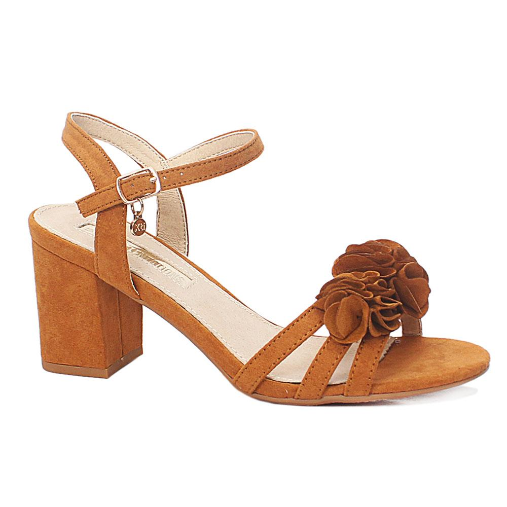 Camel Brown Alessia Suede Leather Heel