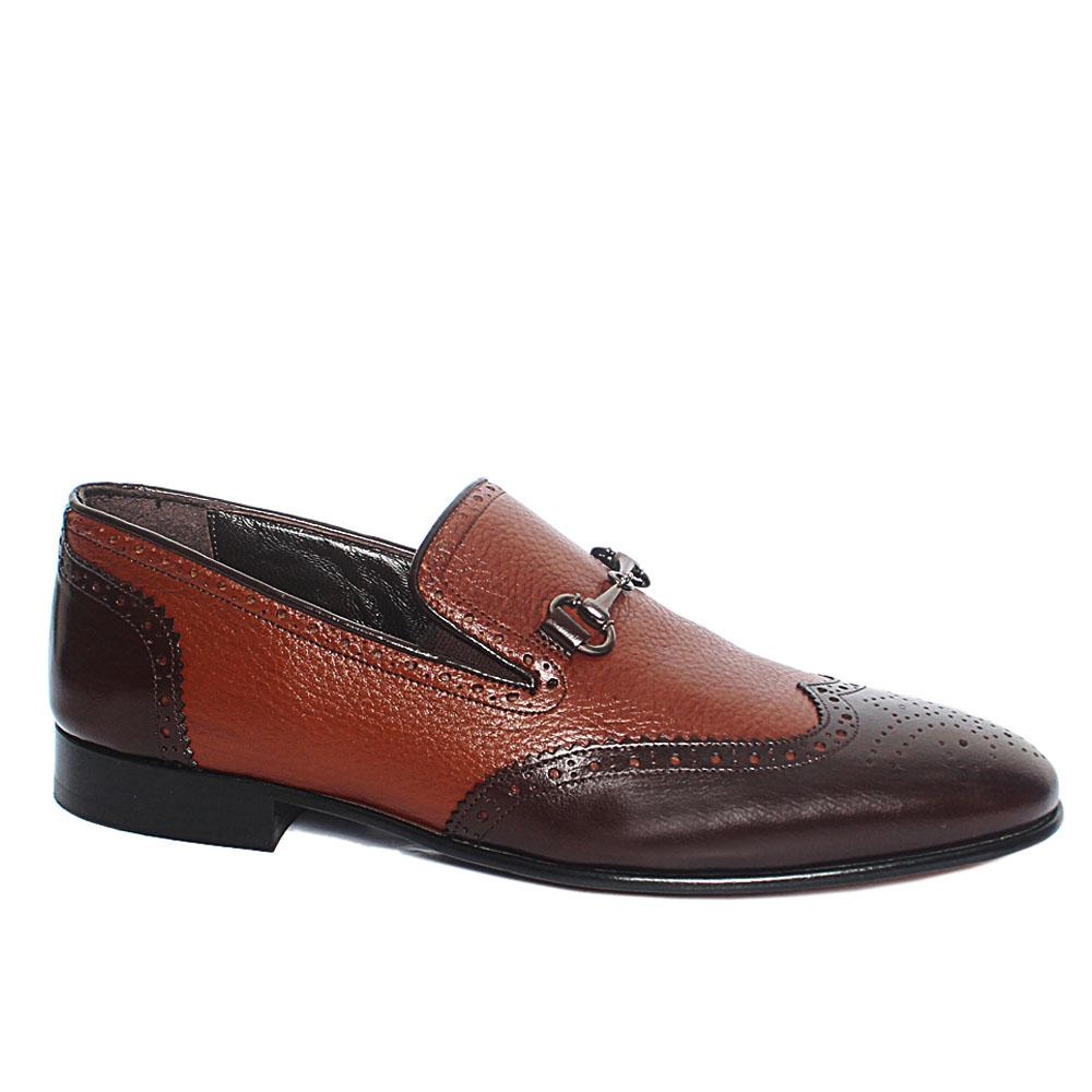 Coffee Buffalo Italian Leather Penny Loafers
