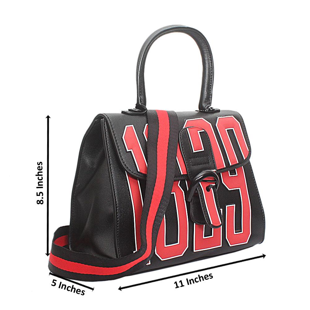 Black Leather Medium 1829 Handbag