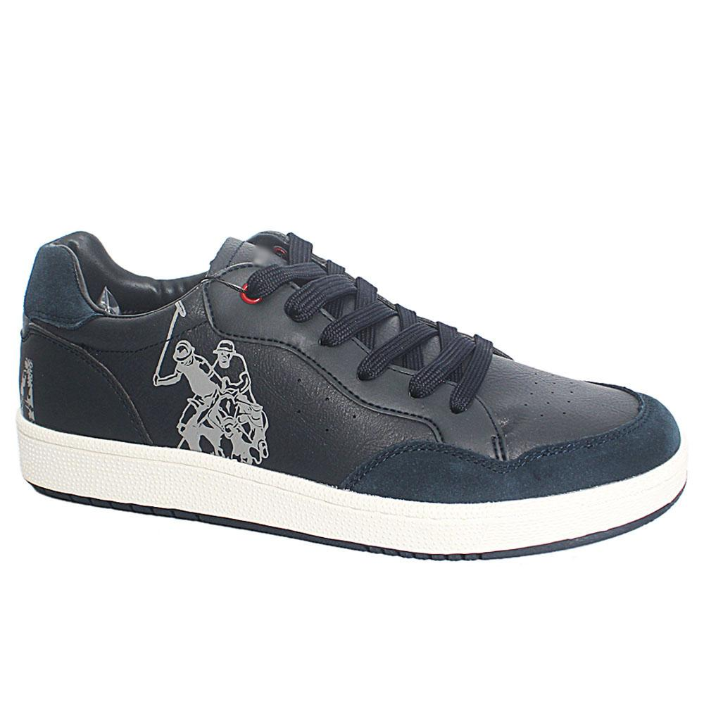 Navy Rikon Club BreathableLeather Sneakers
