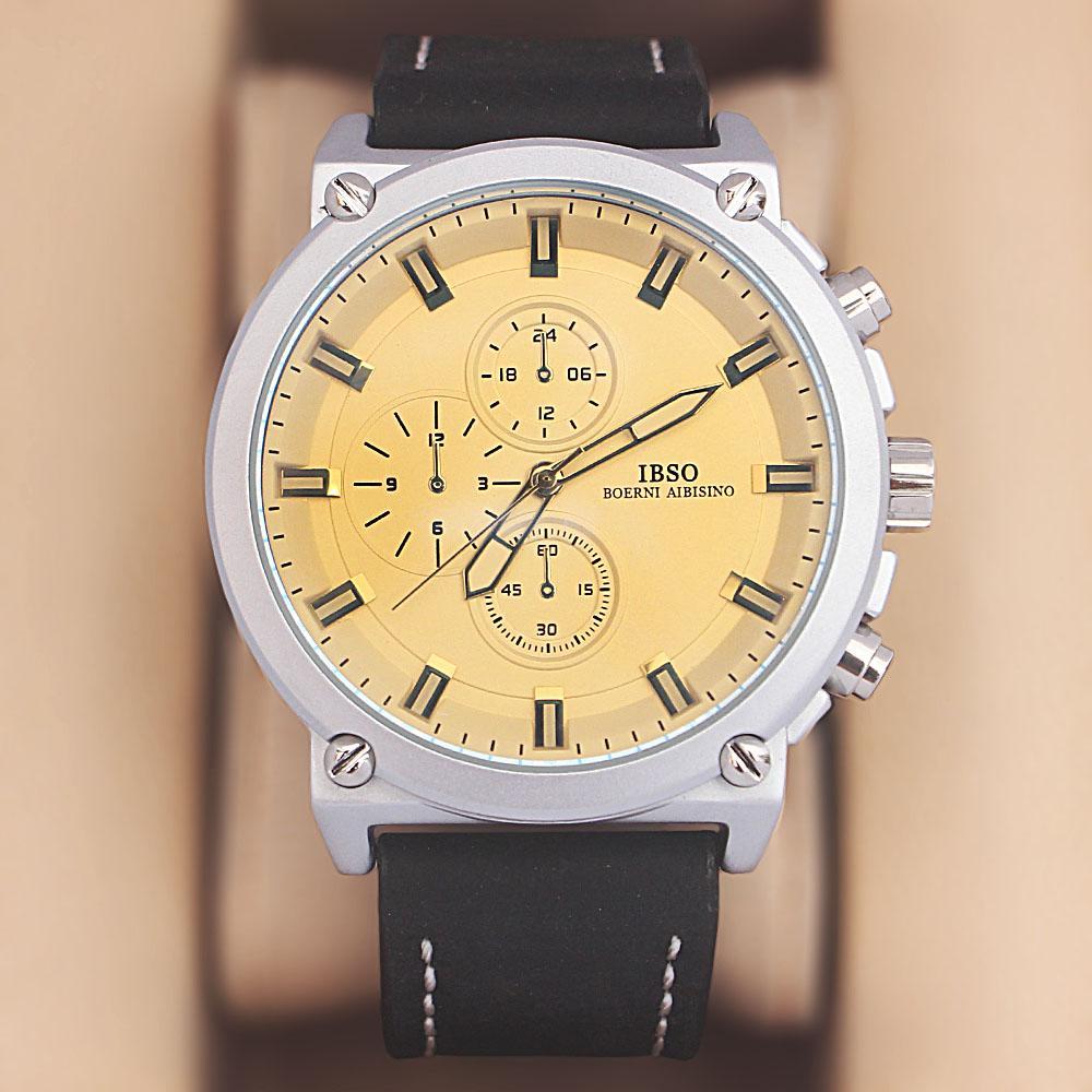 Iron Man Black White Croc Leather Watch