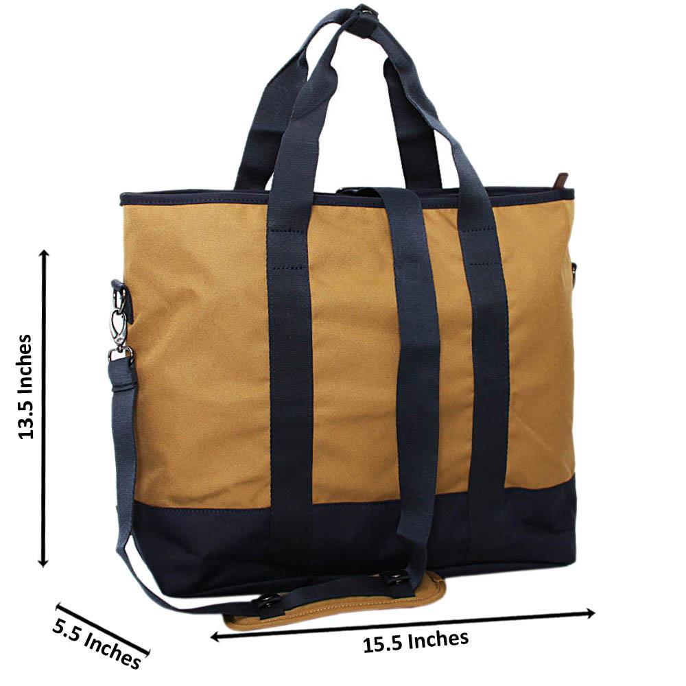 Navy-Carton-Brown-Fabric-Tote-Man-Bag