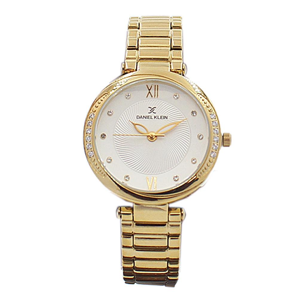 Daniel Klein Classic Gold Studded Stainless steel Ladies Watch