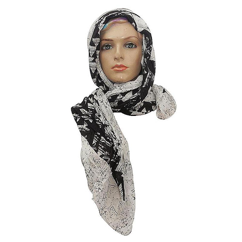 M  &  S Black-White Ladies Scarf-One Size