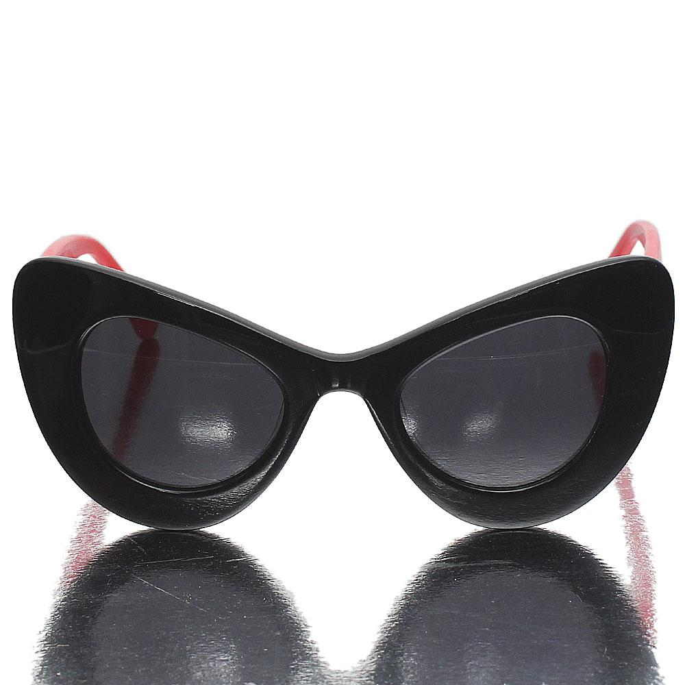 Red Black Cat Eye Dark Lens Sunglasses