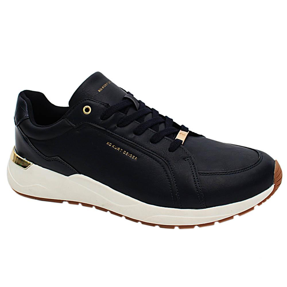 Navy Liam Leather Men Sneakers