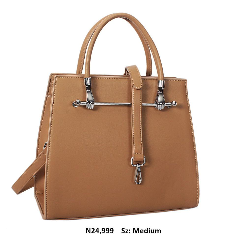 Khaki Norris Leather Tote Handbag