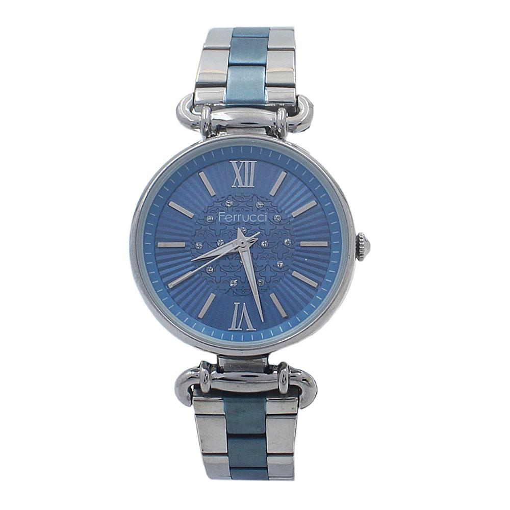 Blue Silver Mesh Ladies Watch