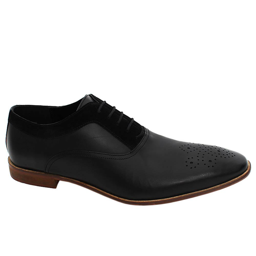 Black Noah Ward Leather Men Oxford Shoe