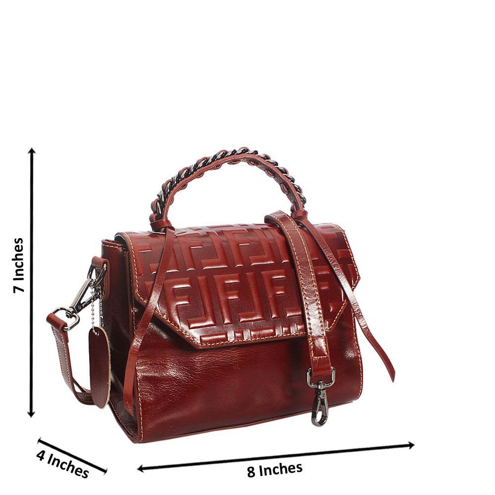 Coffee-Brown-Fiona-Embossed-Shining-Montana-Leather-Mini-Top-Handle-Bag