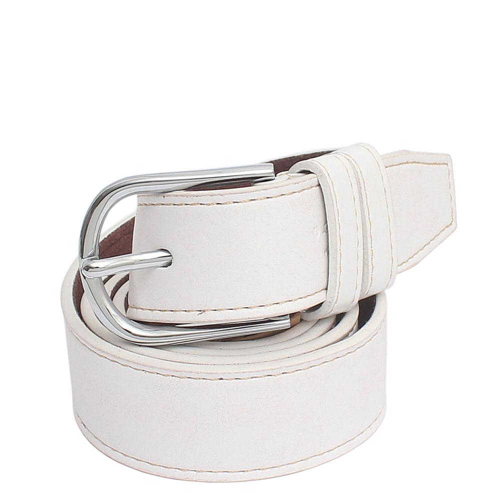 Ferragamo White Classic Leather Men Belt L 43 Inches