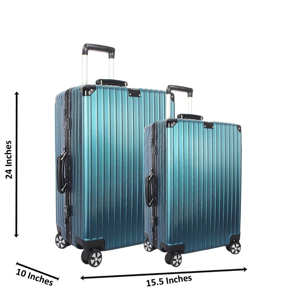 Turquoise Blue 24 inch Wt 20 inch 2 in 1 Hardshell Luggage Set Wt TSA Lock