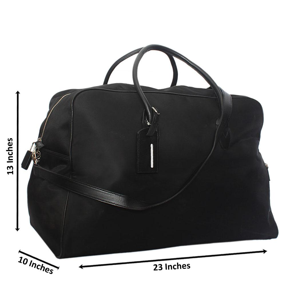 M & S Black Cordura Fabric Duffel Bag Wt Lock