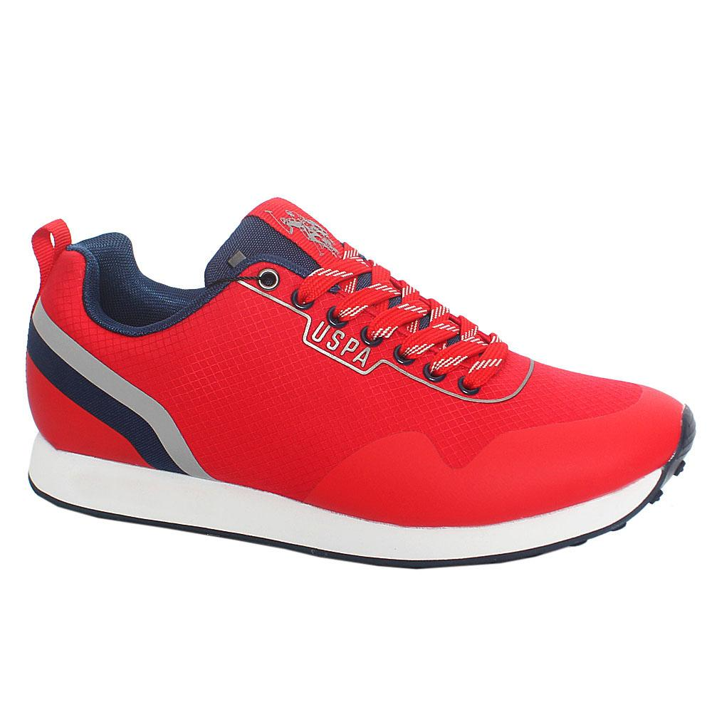 Red Luis Fabric Sneakers