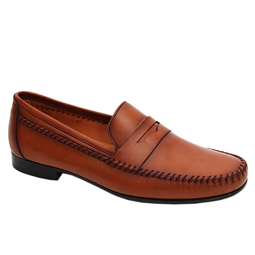 Brown Cedric Italian Leather Loafers